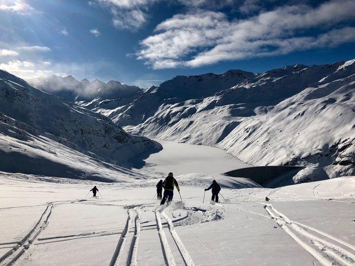 Swiss Mountains Valais Moiry Valdanniviers Grimentz Zinal Ski Snow Winter Beauty In Nature Mountain Shades Of Winter