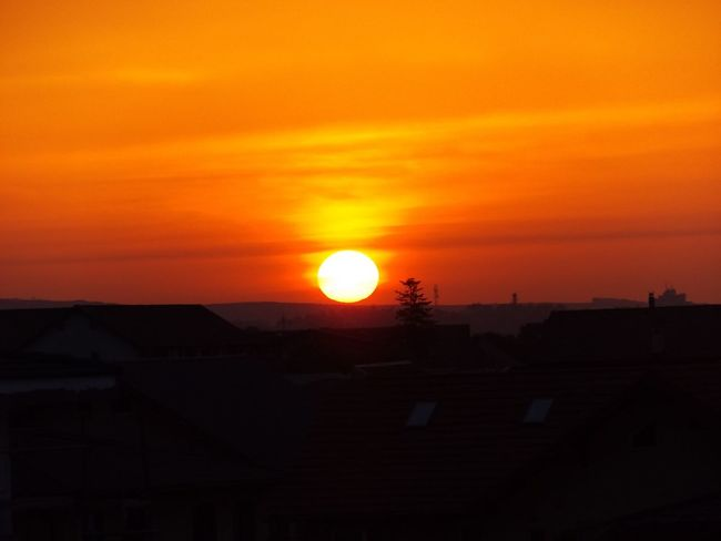 Sunset Sunrise Sun Orenge Sky Red Sky Colorful Nice Atmosphere Nice View