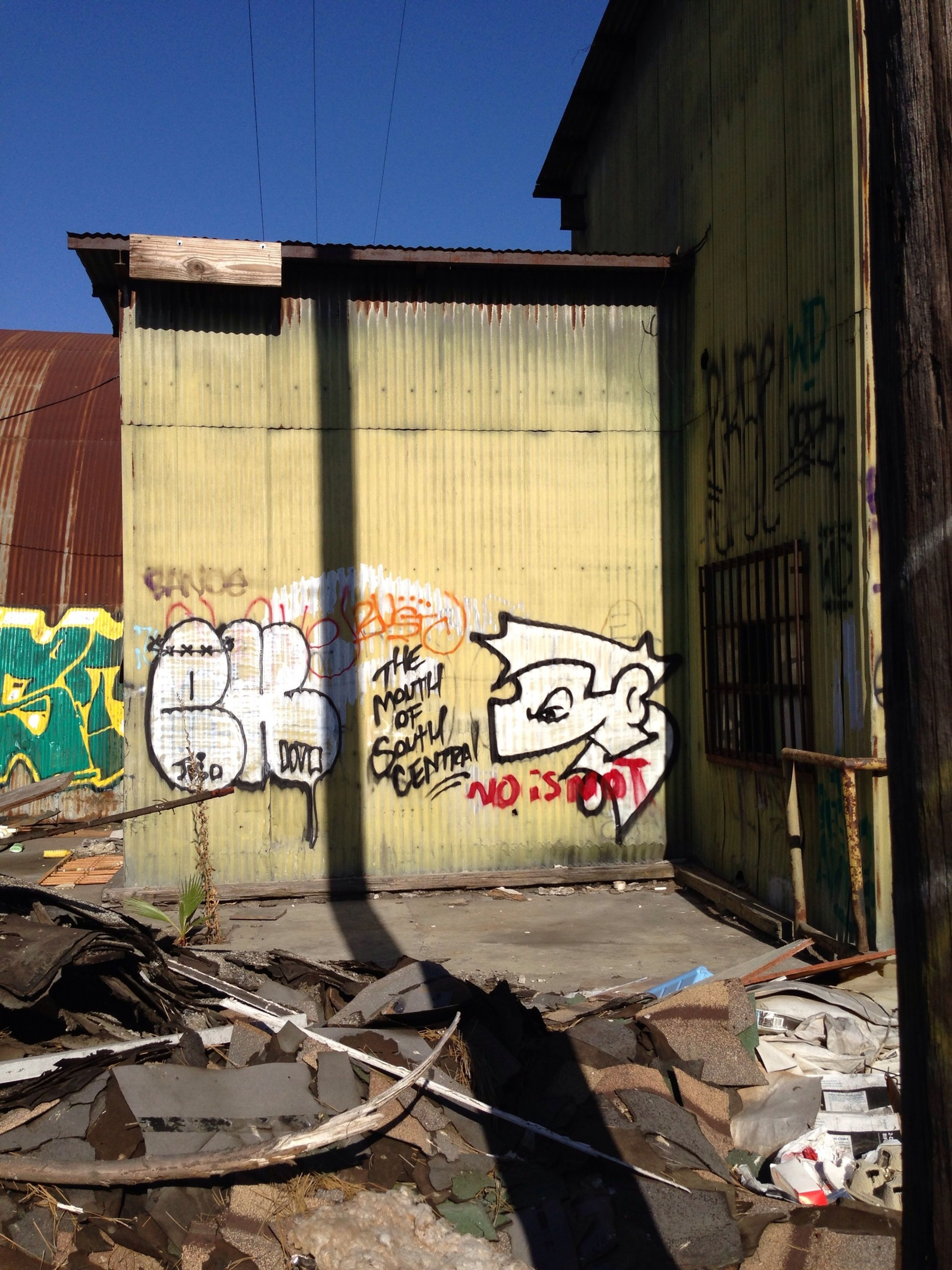 graffiti, architecture, built structure, building exterior, art, creativity, art and craft, text, wall - building feature, street art, building, western script, vandalism, city, day, abandoned, outdoors, communication, multi colored, sunlight