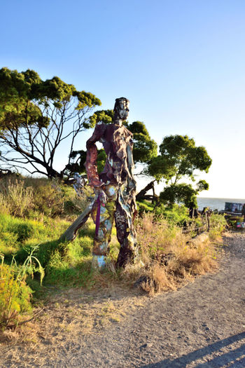 The Albany Bulb 3 Albany, Ca. Waterfront Peninsula Eastern Shore San Francisco Bay Former Landfill Dump For Contruction Materials Closed 1987 Became A Home For Urban Artists Outsider's Art An Anarchical No Man's Land Sculptures, Murals, Graffiti, Installation Art Made From Waste Recycled Materials The Bulb Sculpture : The Humanoid Bay Shoreline Outdoor Sculptor: Osha Neumann Activist,lawyer Defender Of The Homeless Bum's Paradise 2003 Movie Urban Art Public Art
