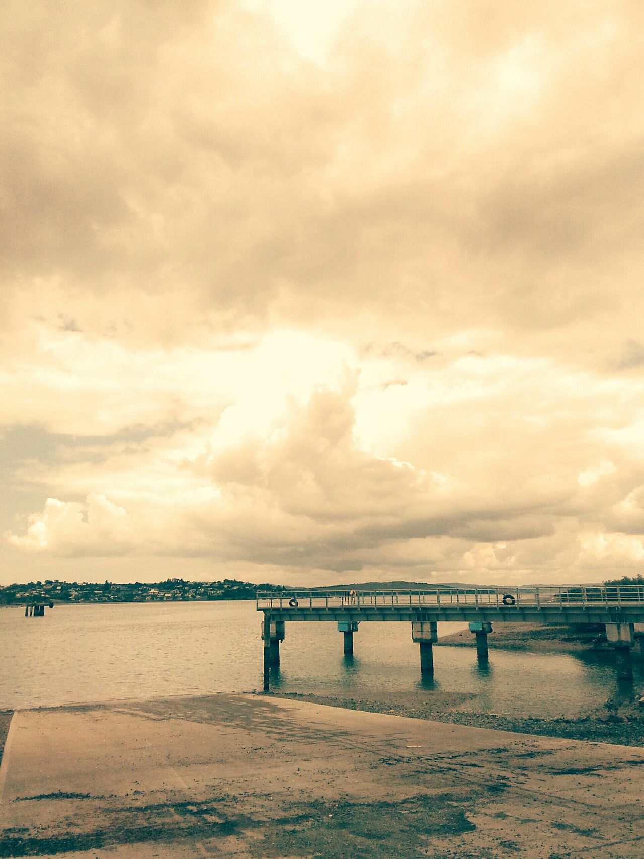 Bridge - Man Made Structure Railing Sea Beauty In Nature Water Outdoors Sky No People Nature Day Clouds And Sky Waterfront Scenics Nature Whangarei New Zealand Port Beauty In Nature Weather Photography Stormclouds Cloud - Sky Pier Tranquility Horizon Over Water