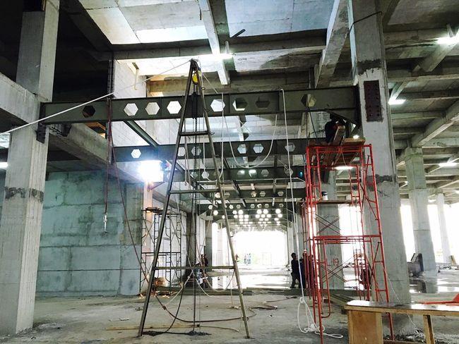 Konstruksi baja... At Hotel Grand Rinra..pekerjaan lantai mezzanine First Eyeem Photo