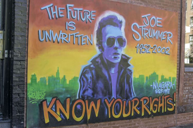 Joe Strummer wall NYC. NYC15 collection Art Artistic City City Close-up Color Graffiti Graffiti Art New York New York City No People Outdoors Poitics Spray Paint Street Text Urban Landscape Urbanphotography Wall Youth Youth Culture