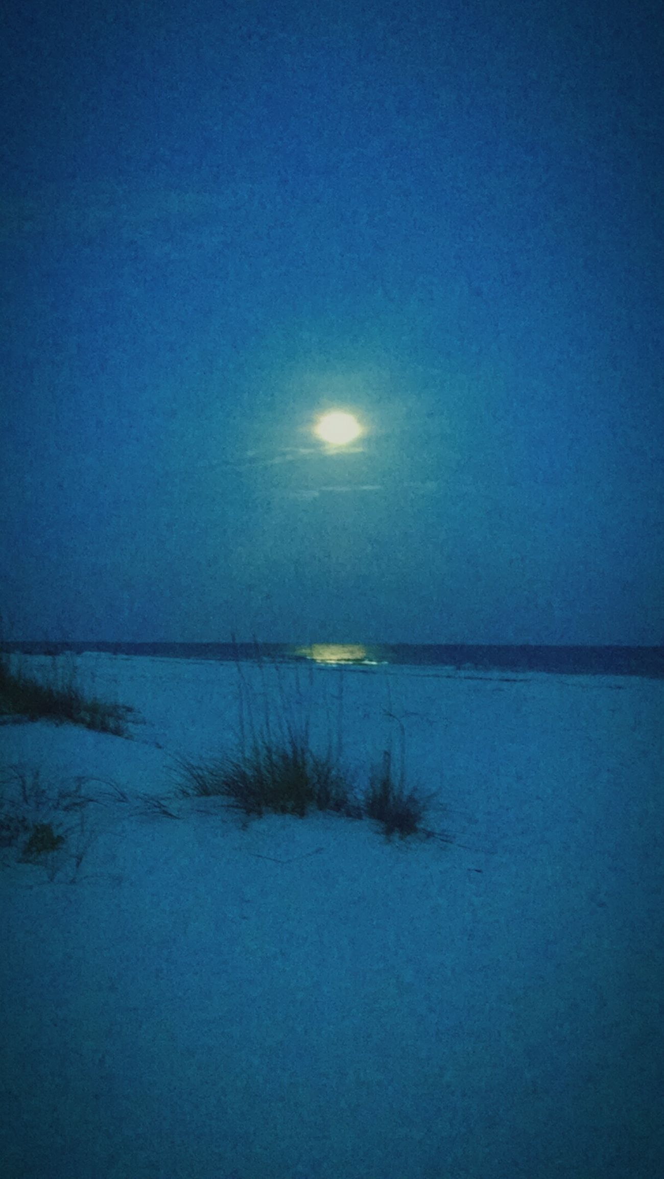 Calmness Blue Bluenight Sand Moonlight Full Moon Moon Beachatnight Exploring Nature Scenery Outdoors Beautiful Beautiful Nature Pensacola Beach Beach Water🐚🌌🌊🐬🐠