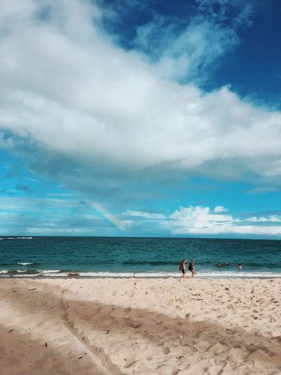 Day Sea Beach Cloud - Sky Sky Water Horizon Over Water Scenics Sand Nature Beauty In Nature Tranquil Scene Leisure Activity Real People Men Two People Tranquility Lifestyles Togetherness Outdoors