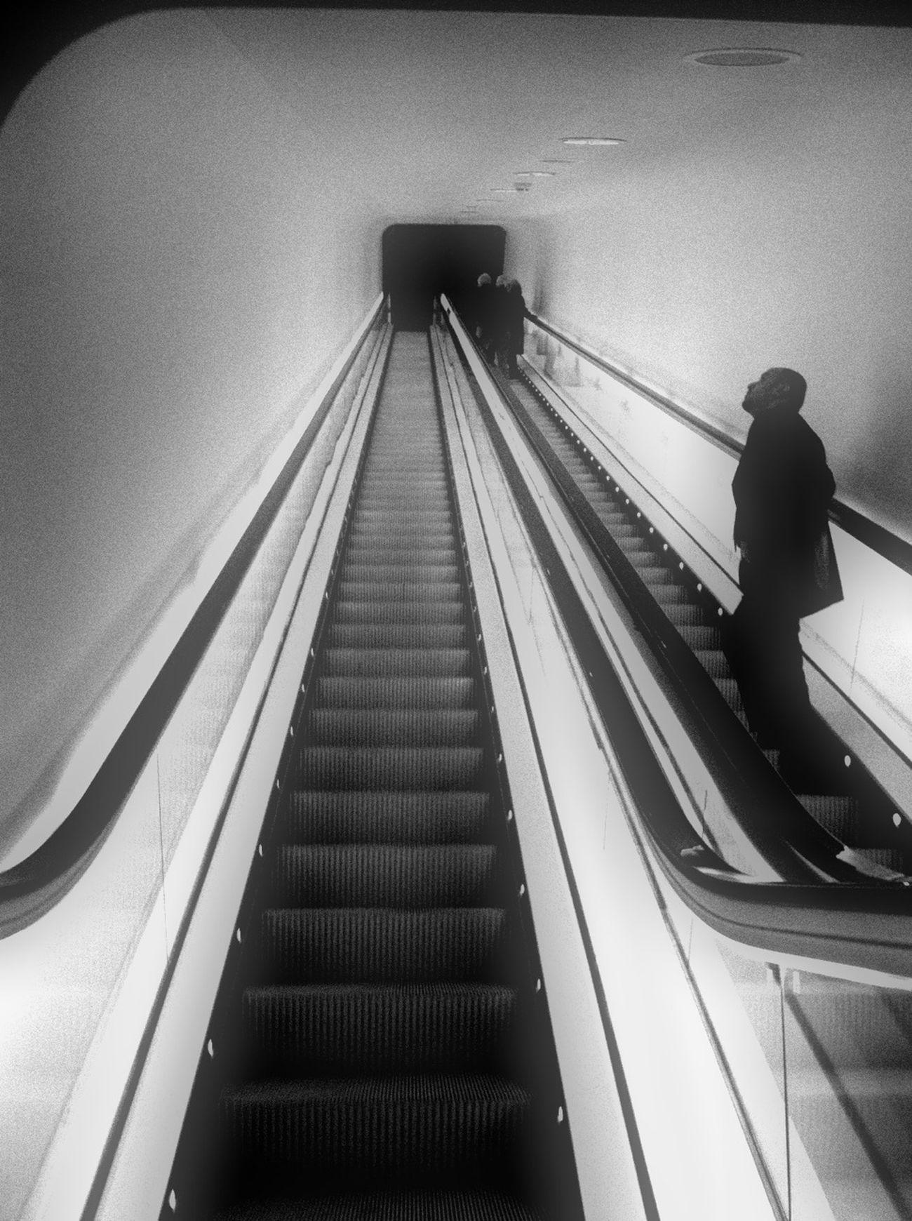 Taking Photos Black & White At An Exhibition