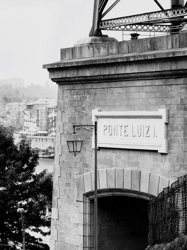Text Architecture Western Script Built Structure Communication Building Exterior Day Outdoors No People Low Angle View City Sky Porto Portugal EyeEmNewHere Architecture History The Week On EyeEm Black And White Friday Shades Of Winter