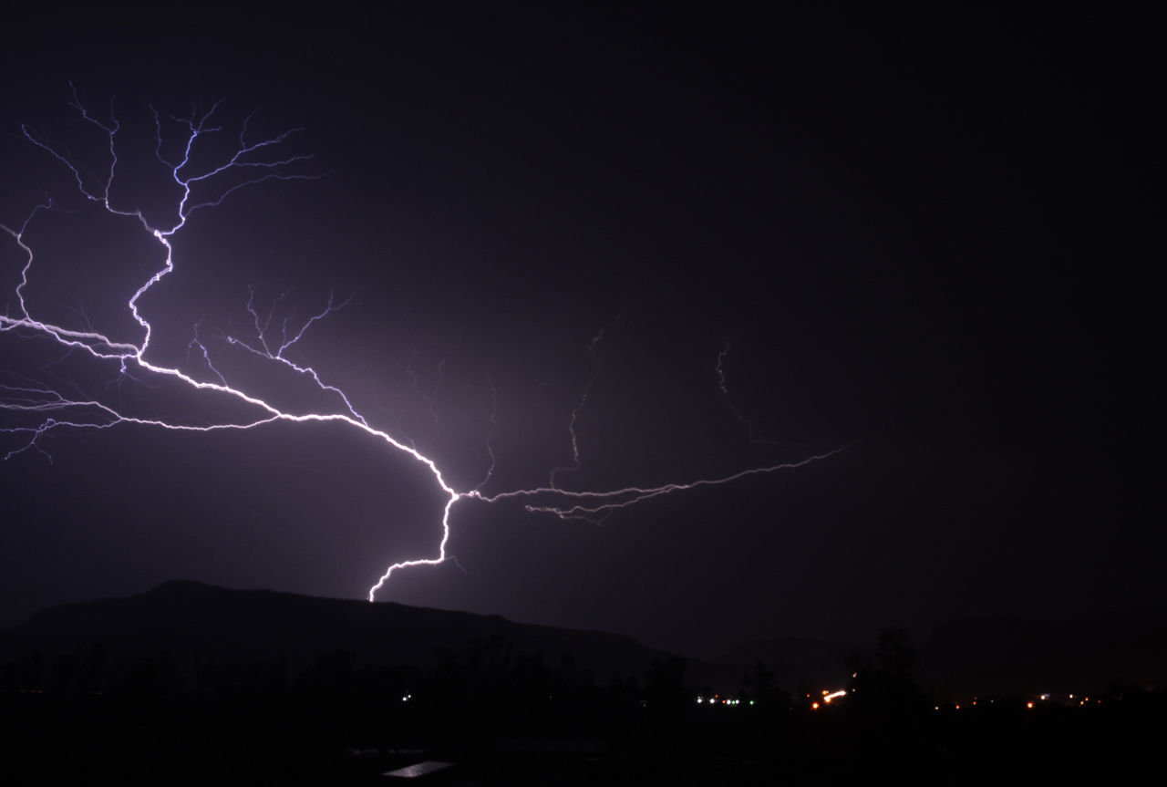 lightning, night, forked lightning, power in nature, thunderstorm, weather, danger, storm, illuminated, nature, no people, beauty in nature, sky, storm cloud, outdoors, electricity, scenics