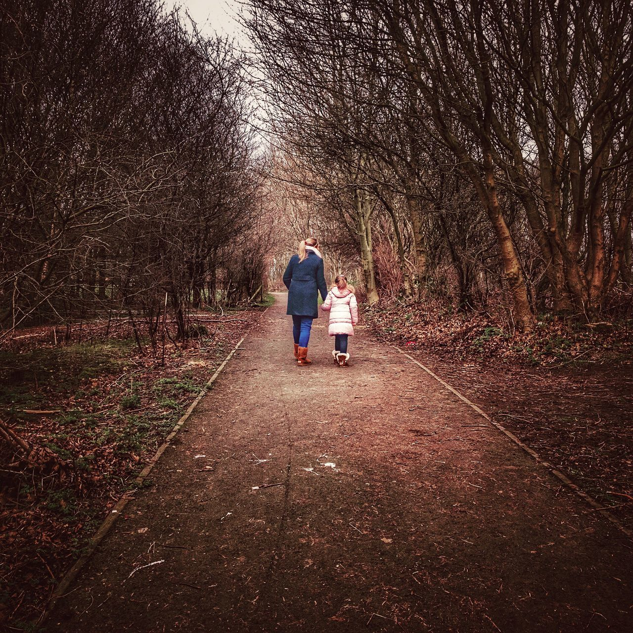 Shotoniphone7plus IPhoneography ShotOnIphone IPhone Iphoneonly Sophia ❤️️ Mother & Daughter Two People Tree Rear View Full Length Bare Tree Real People The Way Forward Togetherness Men Women Nature Outdoors Day People Adult Walking