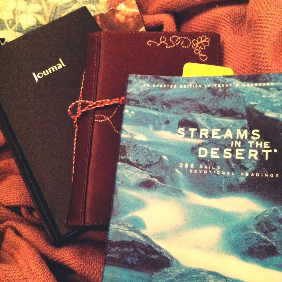 Love getting new books. Journal for my husband and awesome devotional ❤