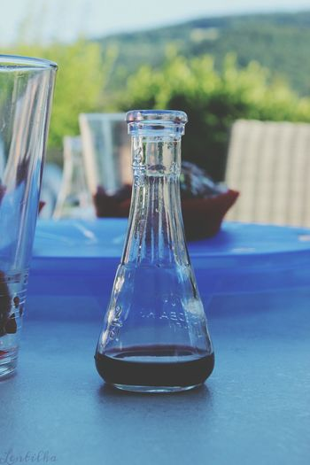 Focus On Foreground Science Drinking Glass Flask Beaker Laboratory No People Outdoors Drink Chery Alcohol Liqueur Chery Liqueur Klettgau Lentilka Waldshut-Tiengen Badenwürttemberg Germany Canon Canonphotography Lila Wine Moments EyeEmNewHere Lieblingsteil