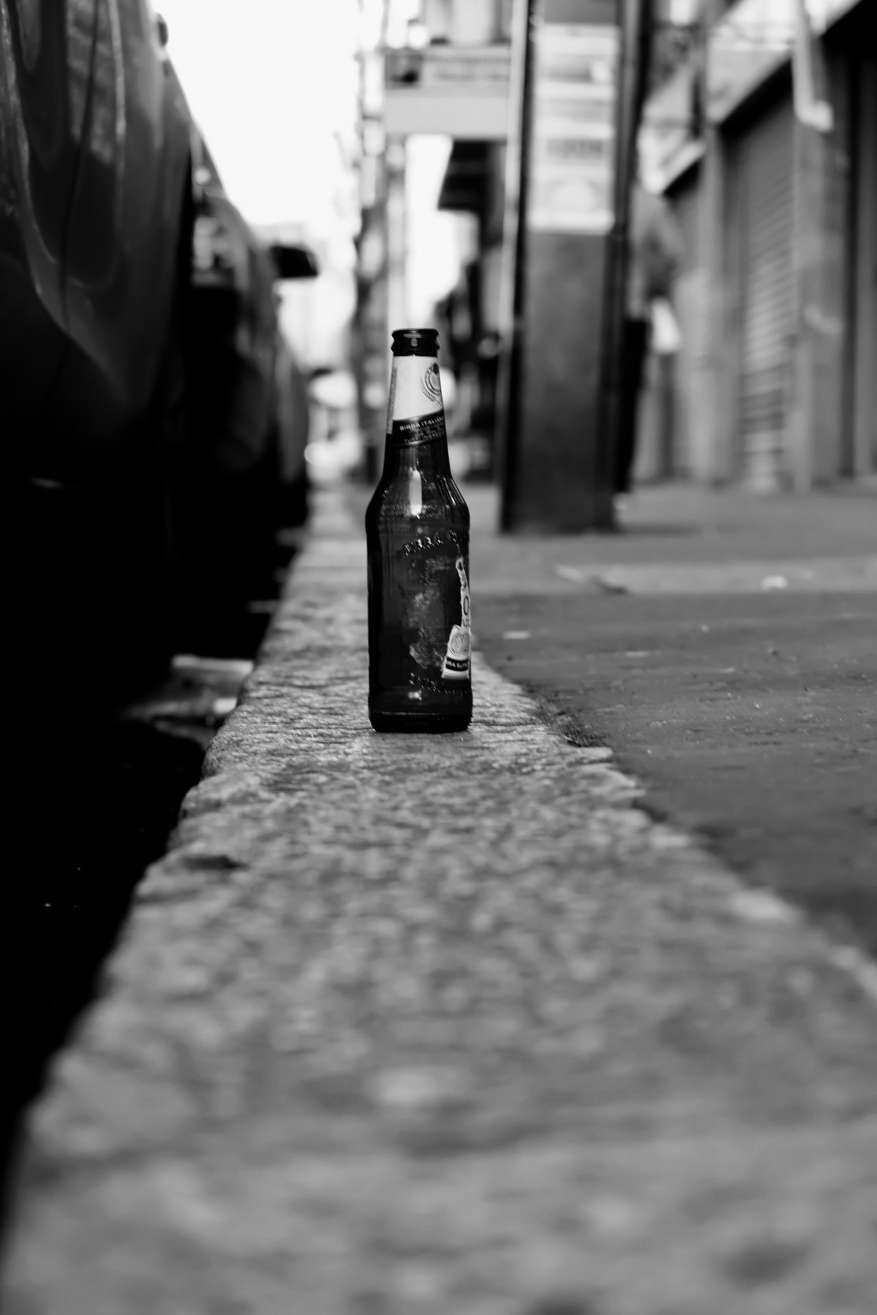 Belfast Blackandwhite Bottle Building Exterior Built Structure Close-up Day Fujifilm Ireland Myfujifilm Nireland No People Outdoors Streetphotography Surface Level The Way Forward