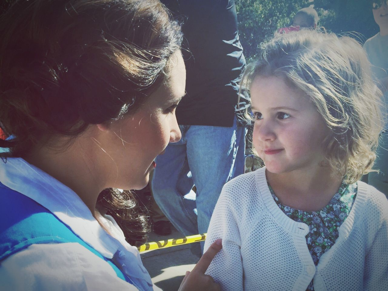 Bellamy meeting one of her favourite princesses, Belle Two People Girls Real People Leisure Activity Childhood Close-up Day Togetherness Outdoors People EyeEm Storybook Character Books Festival Fun Kidsphotography Kids Portrait