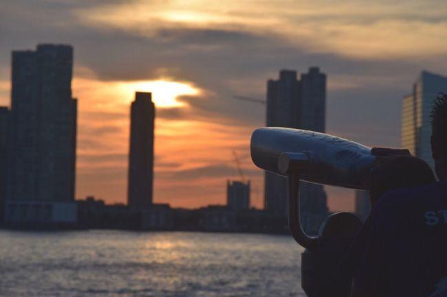 Watching The Sunset Sunset Telescope The Week Of Eyeem The Week On EyeEem