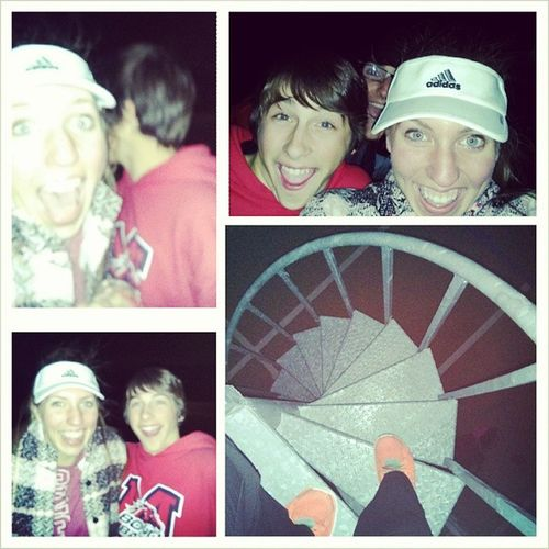 We were just a little excited to climb up to Mr. Nuñez's tower this evening!! ;) I promise we had permission!! Huntermatson Somuchfun Alexhowley Creepin bandbandband owls