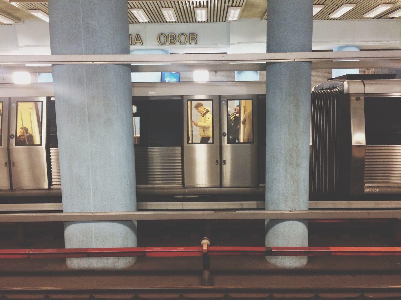 Indoors  Illuminated Architecture Day Subway Station Subway City Life Transportation People