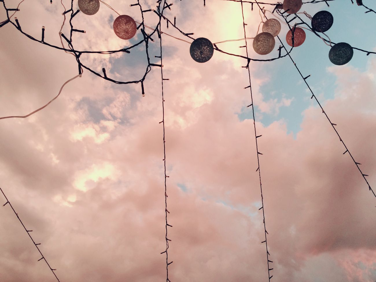As night falls Cloud - Sky Fairylights Evening the lights shimmers and the sky's adorned magically 😍 Millennial Pink Millennial Pink Millennial Pink Millennial Pink Millennial Pink Millennial Pink
