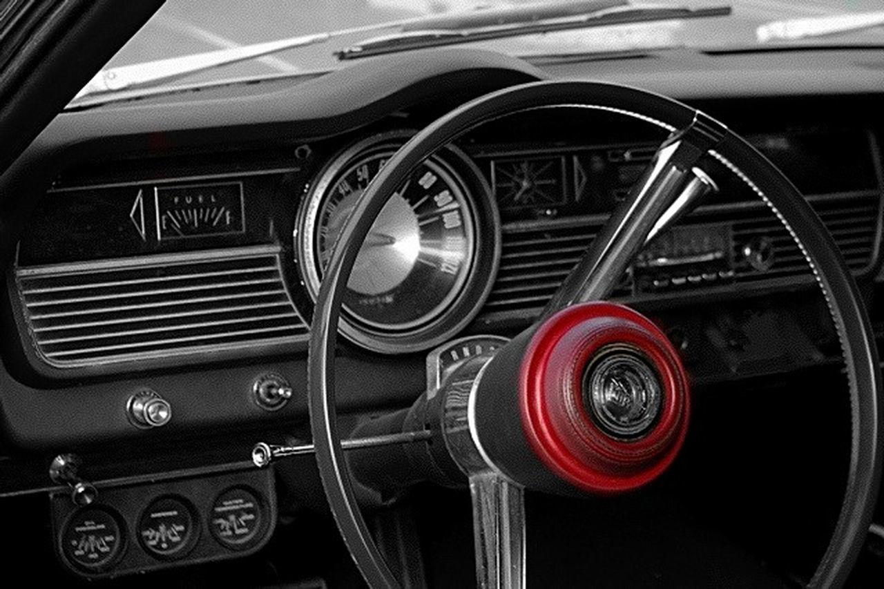 Drive Time 60s Car Auto Auto Interior Automobile Black And White Classic Car Color Splash Mercury