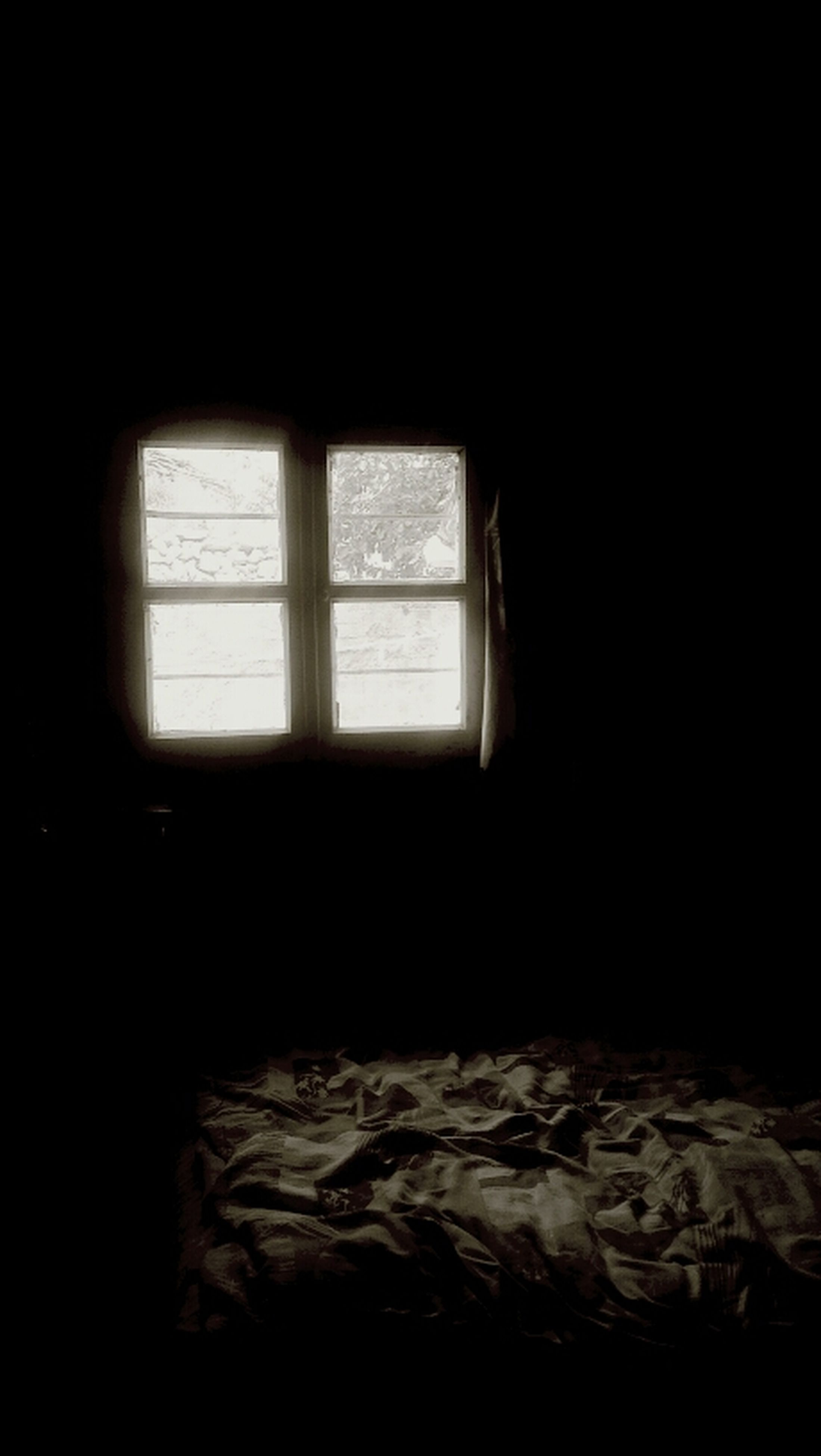 indoors, window, dark, glass - material, transparent, copy space, home interior, looking through window, absence, sunlight, silhouette, no people, curtain, empty, interior, darkroom, day, vehicle interior, shadow, open