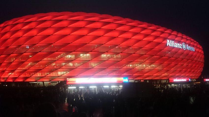 Arts Culture And Entertainment Illuminated Indoors  Night No People Red Stadium