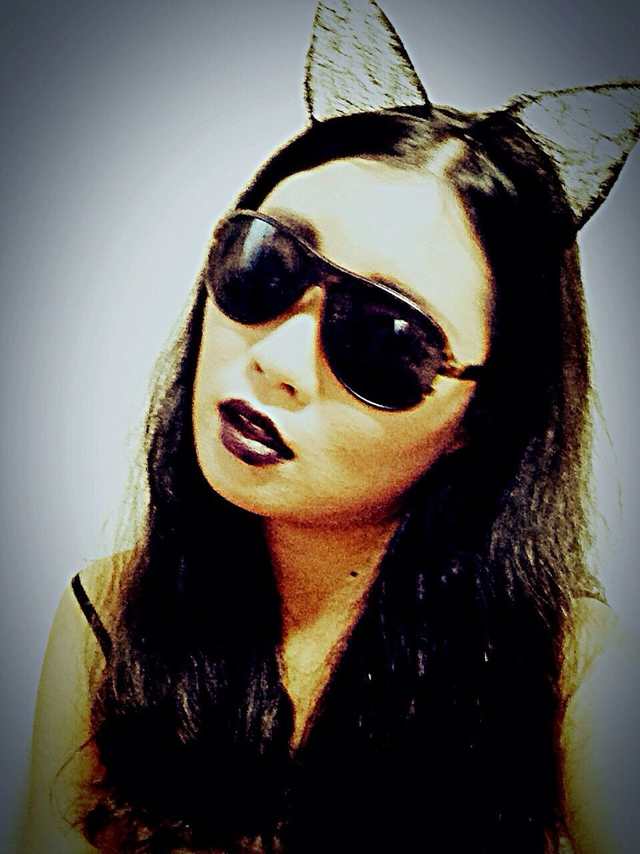 Paleface Cat Girl Makeup Sunglasses Lazy Young Adult Tokyo Days