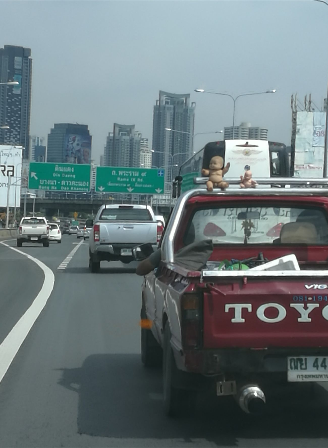 Meanwhile on Bangkok highway Bangkok On The Move Road Street Car Transportation