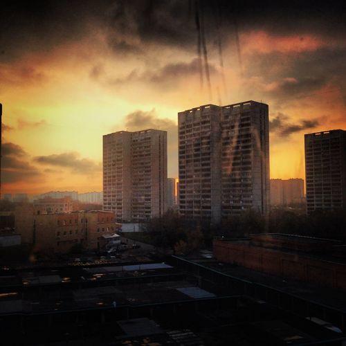 HDR Sunset Beautiful Sky Cloud And Sky