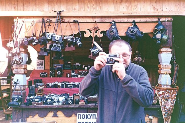 Feel The Journey Analogue Photography Camera Film Man CameraMan Moscow Flea Markets