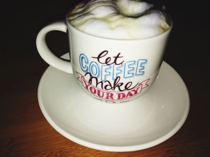 Let coffee make your day Coffee Time white chocolate mocha