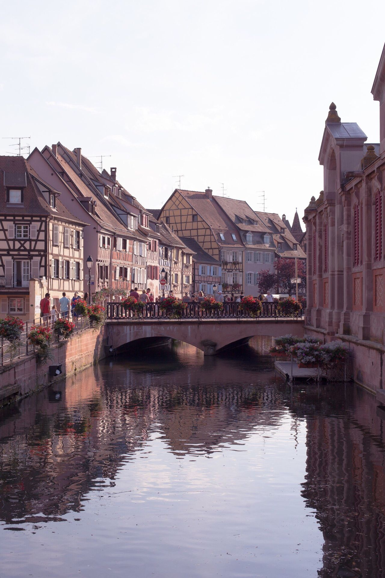 Colmar Architecture Reflection Building Exterior Built Structure Water City Waterfront River Outdoors Sky No People Day