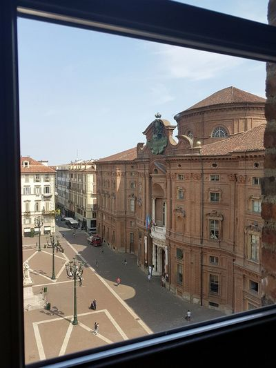 Architecture Built Structure Day No People Building Exterior Outdoors Sky Politics And Government Torino, Italy From The Window Palazzo Carignano Torino
