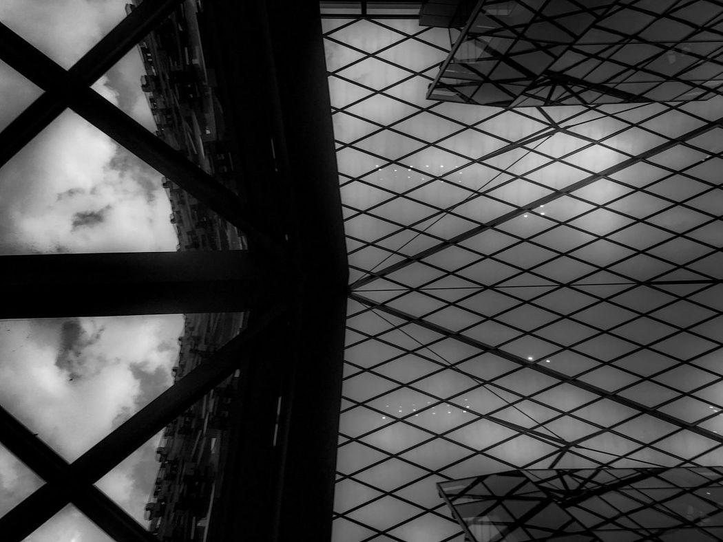 Architecture Buildings & Sky Glass Windows Urban Exploration Structuralphotography EyeEm Best Shots - Architecture Darkness EyeEm Best Shots Fine Art Fine Art Photography The Week Of Eyeem Fresh On Eyeem  EyeEmBestPics EyeEm Best Edits Artistic Reflections EyeEm Best Shots - Black + White Clouds And Sky Blackandwhite