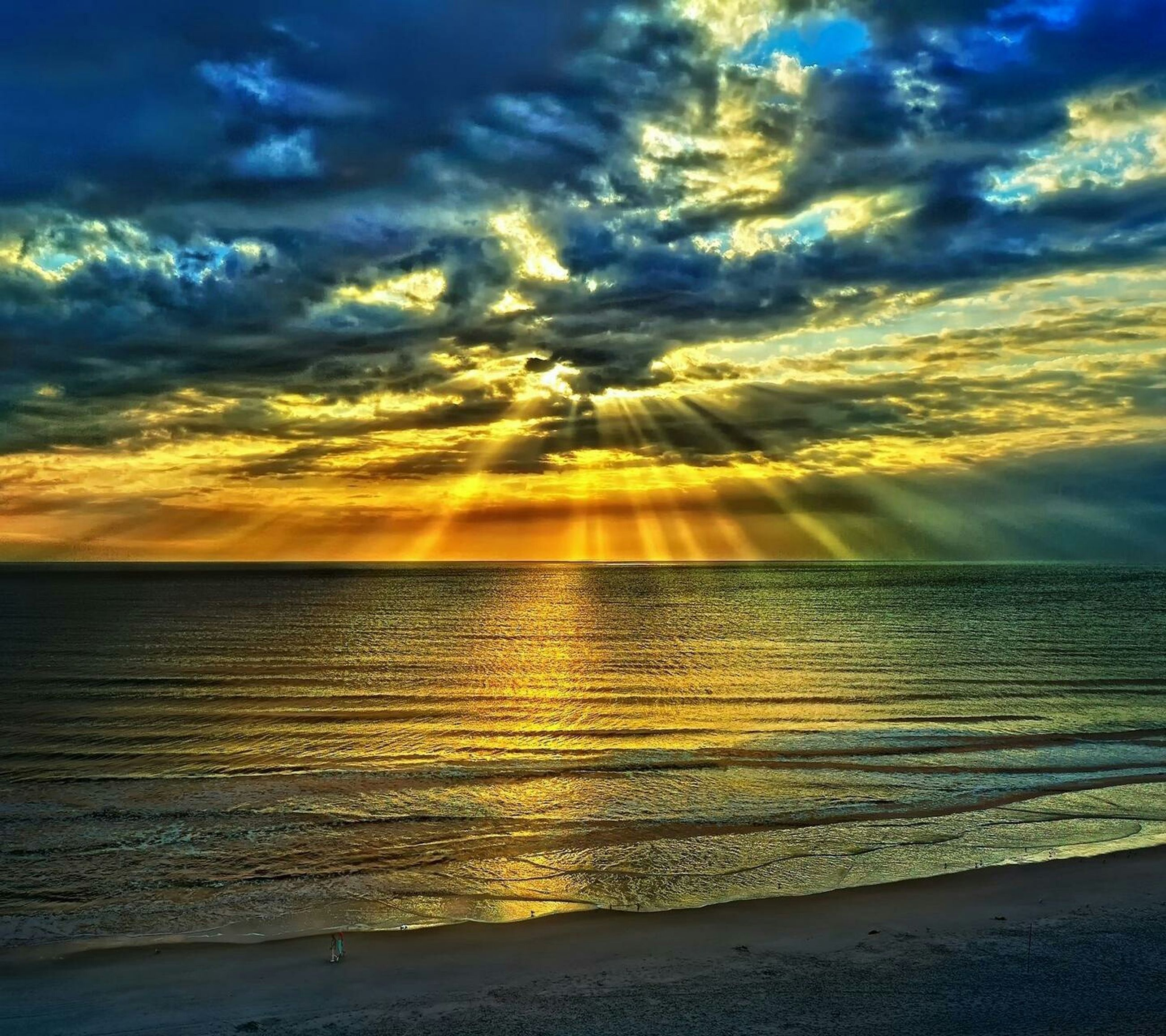 sea, sunset, scenics, sky, water, tranquil scene, beauty in nature, beach, horizon over water, tranquility, cloud - sky, idyllic, shore, nature, cloud, dramatic sky, cloudy, orange color, reflection, coastline