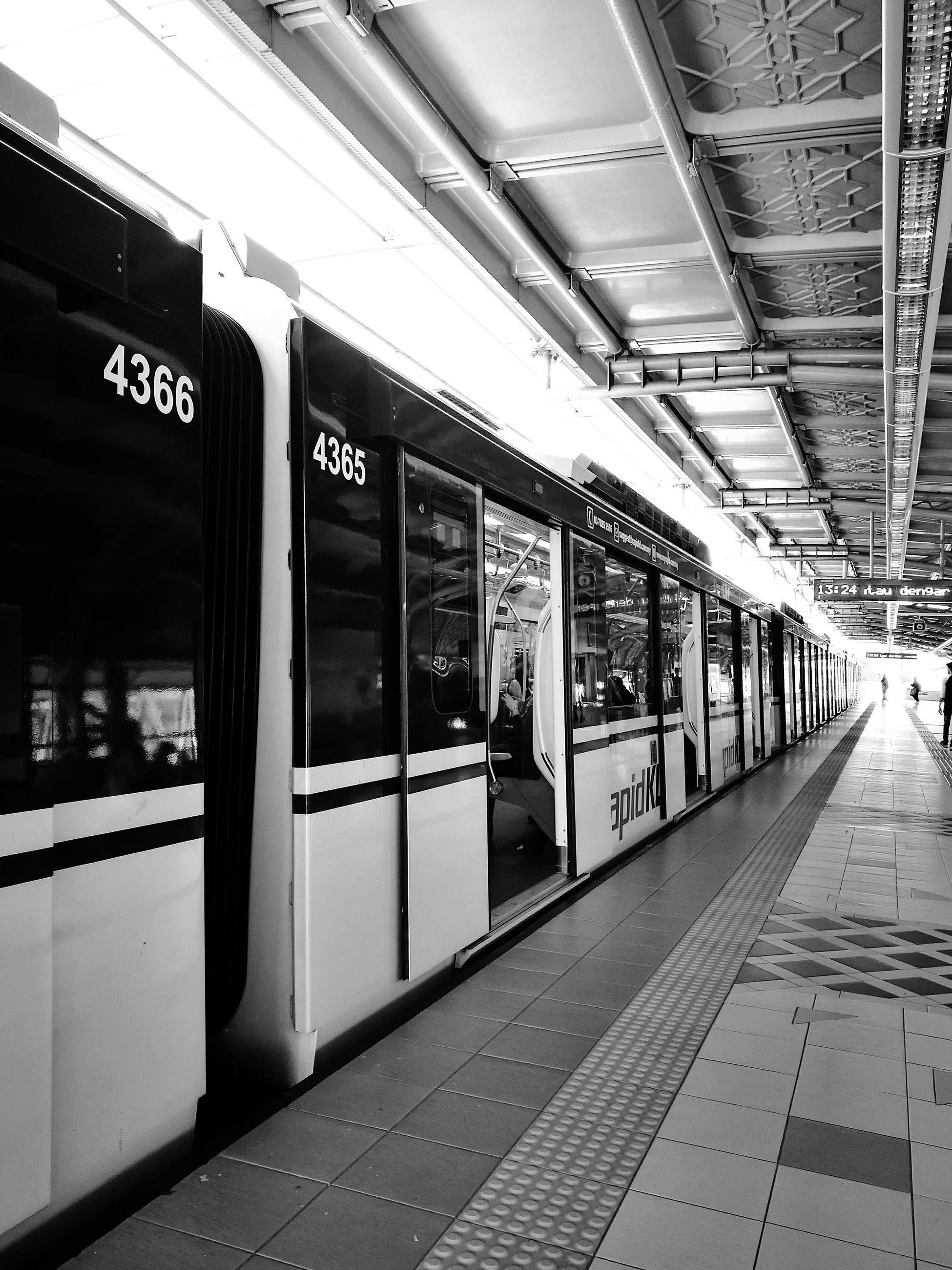transportation, indoors, train - vehicle, travel, public transportation, subway train, no people, day, clock