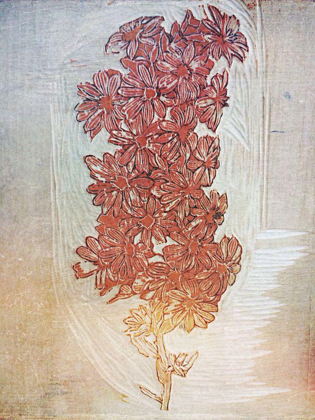 Art ArtWork Jayez's Wood Cut Painting The Tale Of Plants make a gd effort!keep a hard practice!