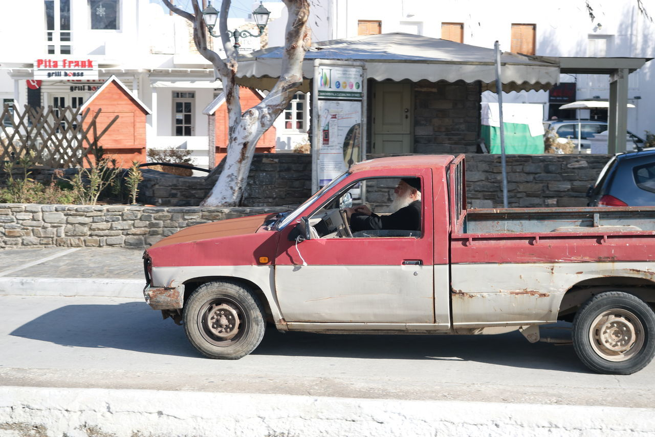 Architecture Building Exterior Built Structure Car City Day Driver Modesty  No People Outdoors Pickup Pickup Truck Pop Rusty Rusty Autos Rusty Metal Transportation