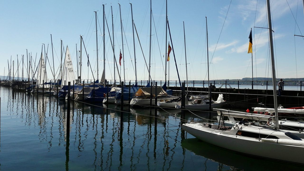 Nautical Vessel Reflection Transportation Water Sailboat Sailing Ship Nature Sky Day Ship Details Lake Constance Harbour Life Überlingen Patterns Regatta Weekend Marina Water Sport Harbour Beauty In Nature Ships Tranquil Scene No People Lake Sailing Mast
