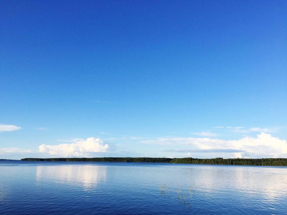 Finnish Lakeview Lake Lakeside Lake View Lakeshore Lakescape Blue Blue Sky Finnland Finland