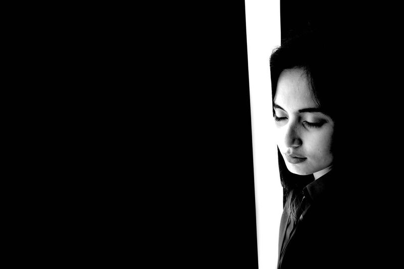 There's always a light in the deepest darkness Women Black & White Light First Eyeem Photo