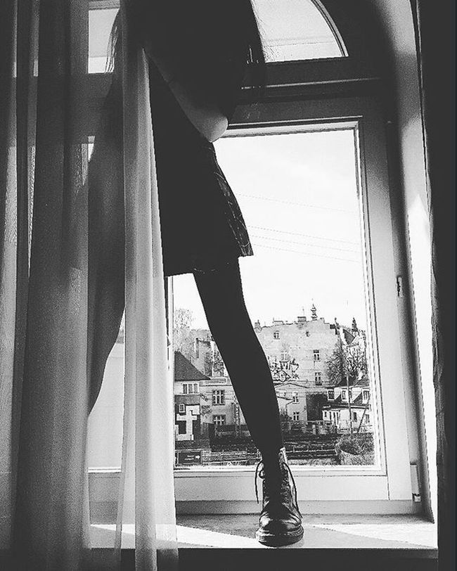 Me Rockgirl Rockstyle Rock Punkgirl Punkstyle Punk Martens Legs Polishlegs Polishgerl Instagirl Girl Window Wiev Skirt Curtain Blackandwhite Blackandwhitephotography Black White Gray Instaphoto Ja Nogi polskiekolanaoknoczarnybiaływidok