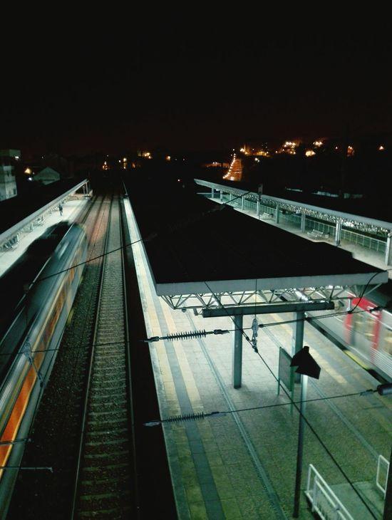 Night Illuminated Railroad Track No People Outdoors Architecture Train Train Station Trains_worldwide