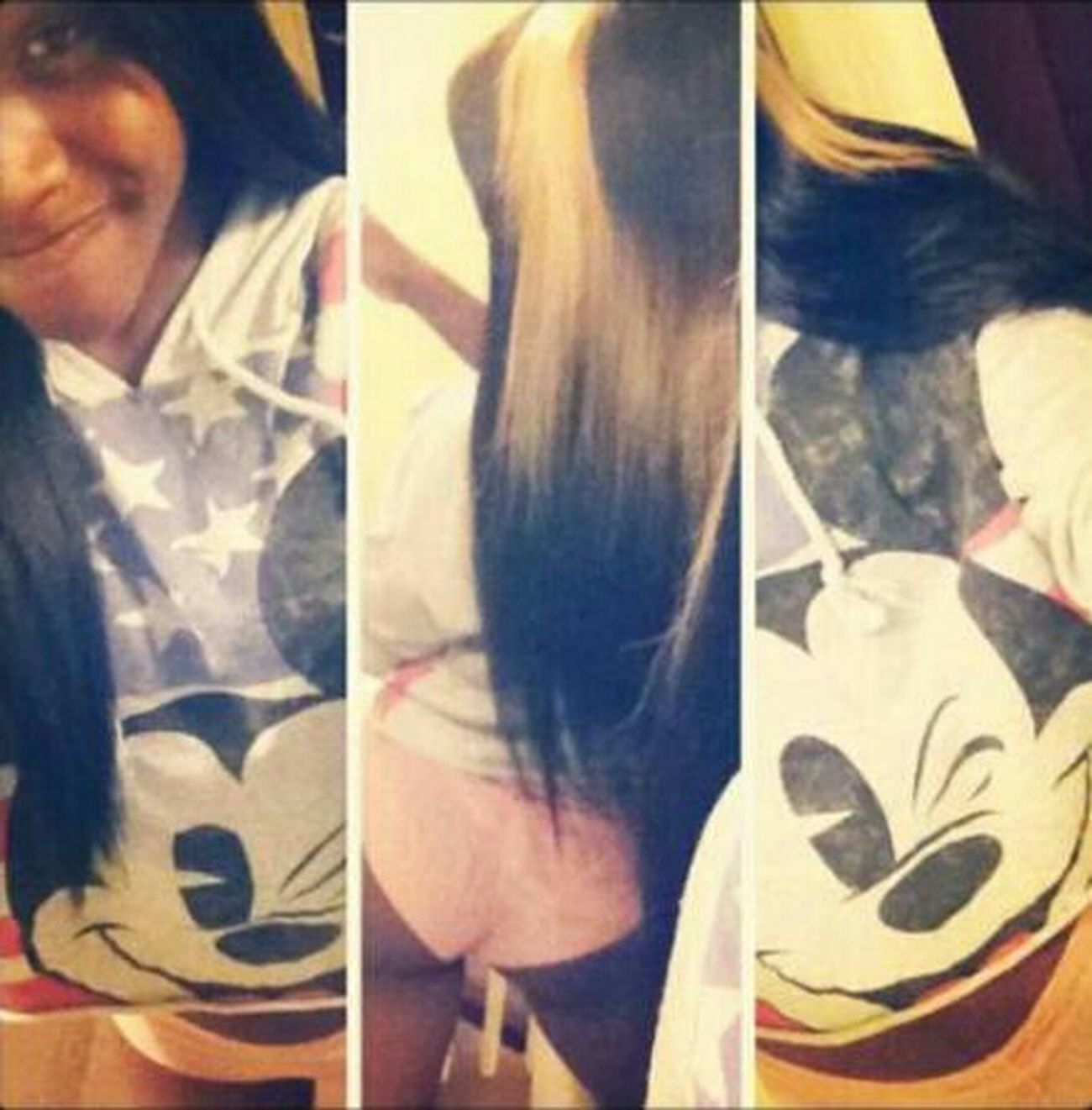 imiss my blonde hair & Mickey mouse Hoodie :(