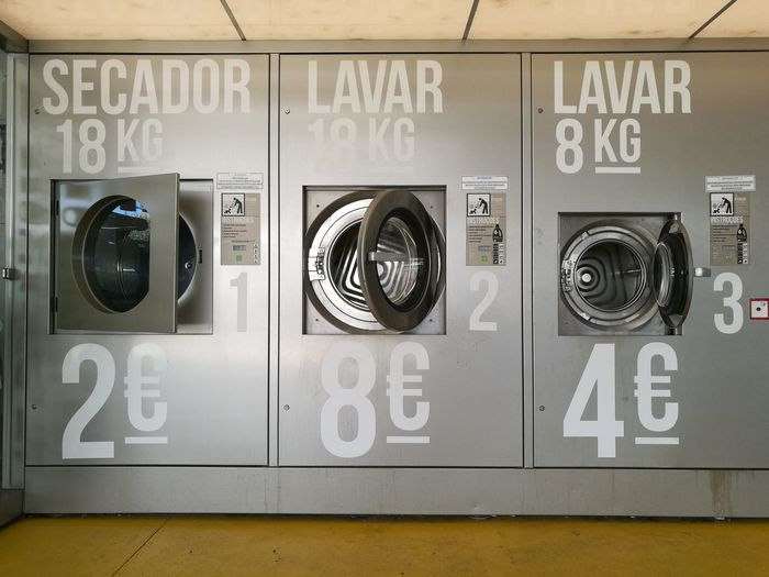 No People Washing Machine Technology Lundry Washing Line Self Service Lundry Self Service Self Service Machine
