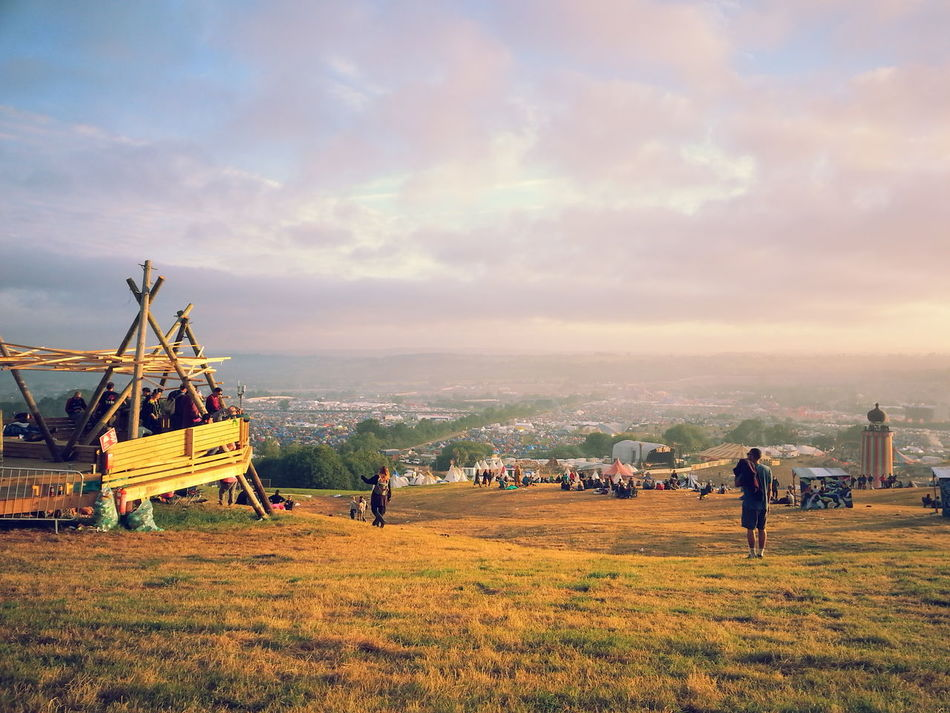 Beautiful stock photos of music festival, Cloud, Countryside, Day, Glastonbury Festival