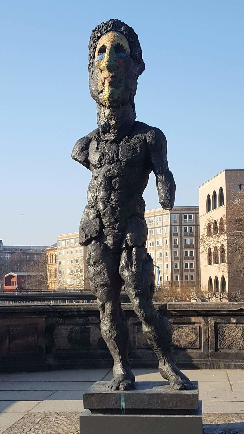 Berlin Art Statue Statue Sculpture City Art And Craft Architecture History Built Structure Monument Museum Travel Destinations Cityscape Sky Shield Outdoors Building Exterior Day King - Royal Person No People