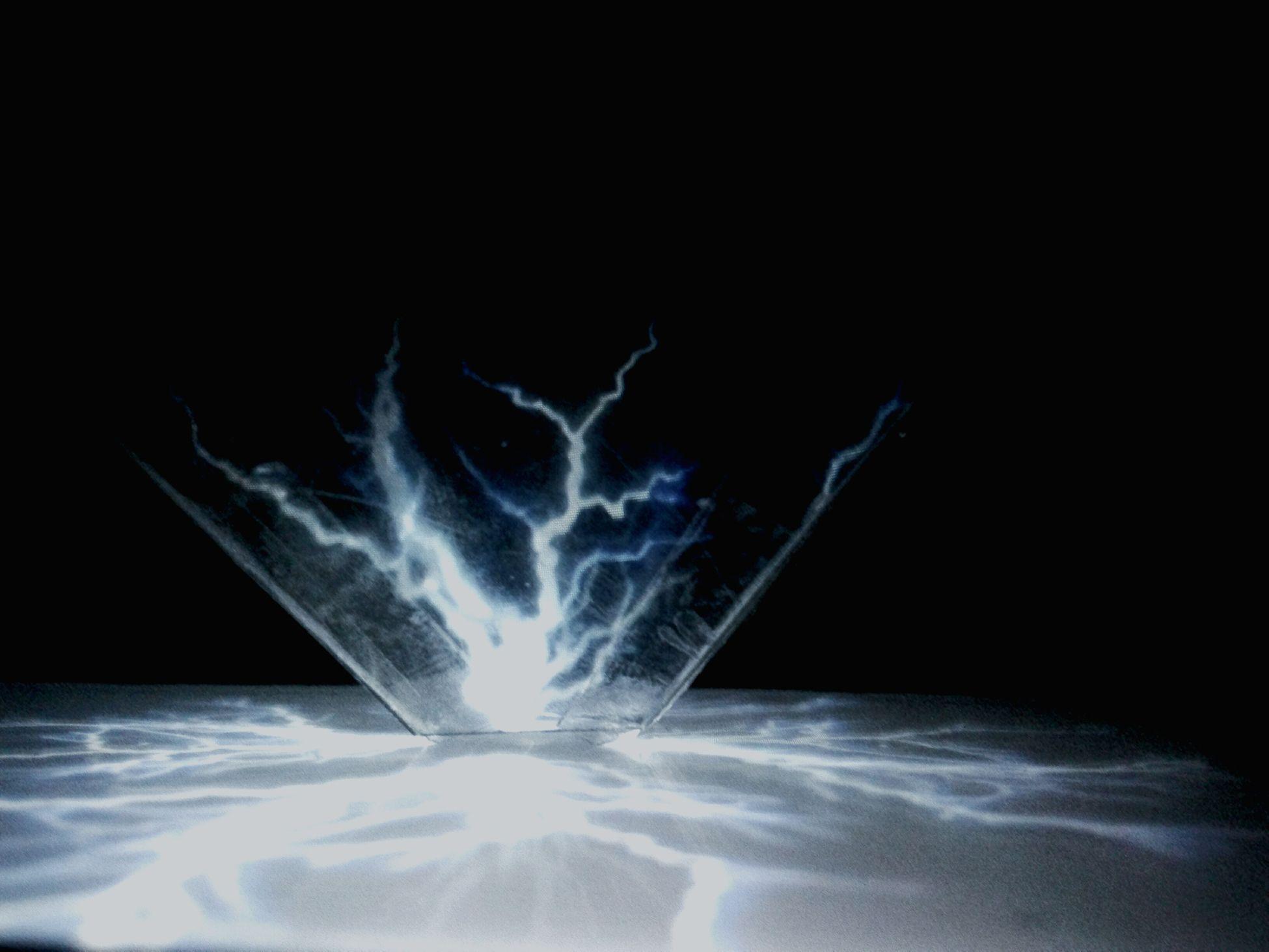 Golograms Cold Temperature Blue Black Elektric Power