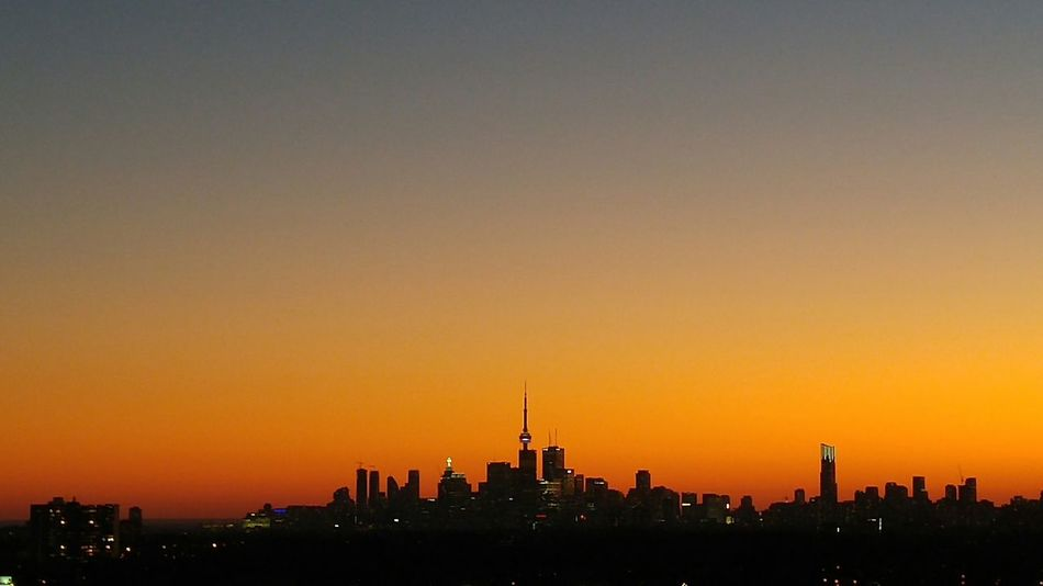 Night Lights City Lights Travel Destinations Downtown Toronto Canada Toronto Downtown District City Toronto Canada Illuminated Night Neon Toronto Skyline Skycrapers Sunset Silhouettes Sunset City Sunsets Outdoors Luminosity Sunsetfeverneverends