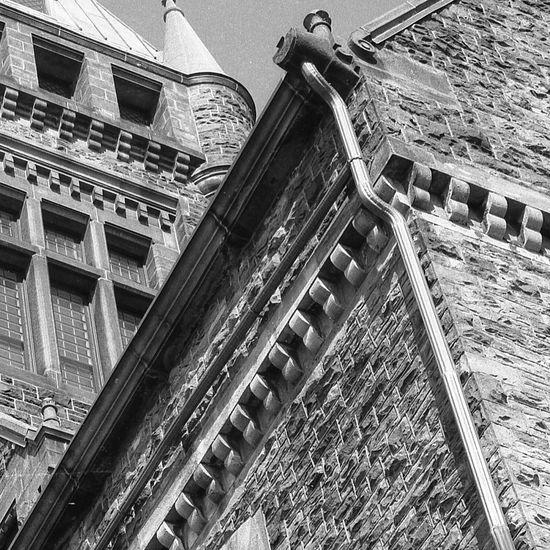 Downspout Architecture Architectural Detail Architecture_bw EyeEm Bnw Monochrome The Architect - 2016 EyeEm Awards Architecture_collection Buffalony Analogue Photography Mediumformat Minolta Autocord BuffaloNY