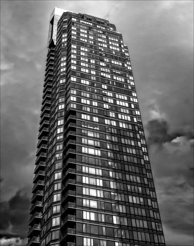 High Rise Architecture Black And White Building Exterior Cloud - Sky High Rise High Rise Building