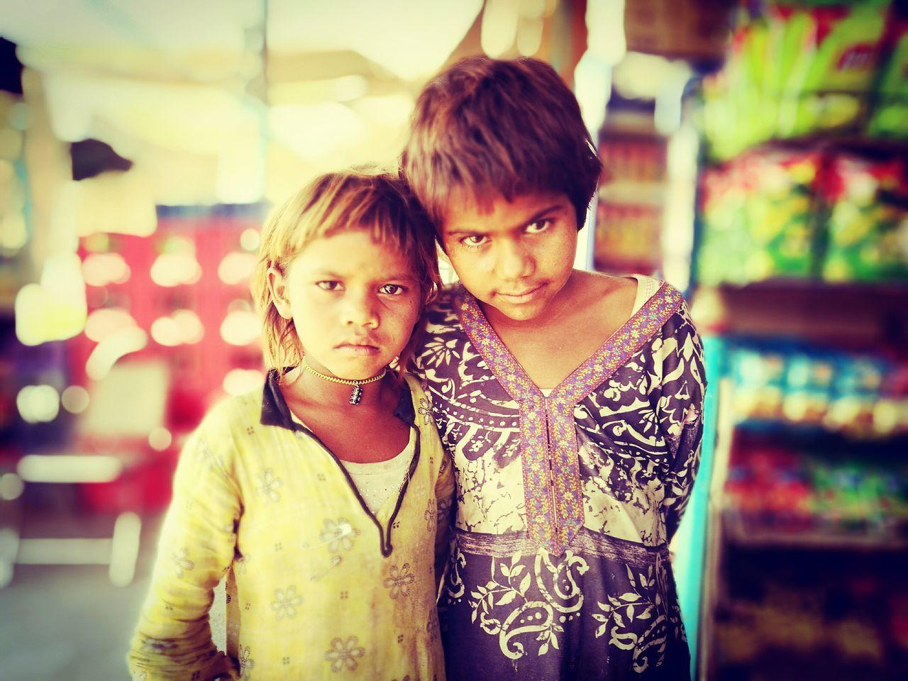 Poor Children Two People